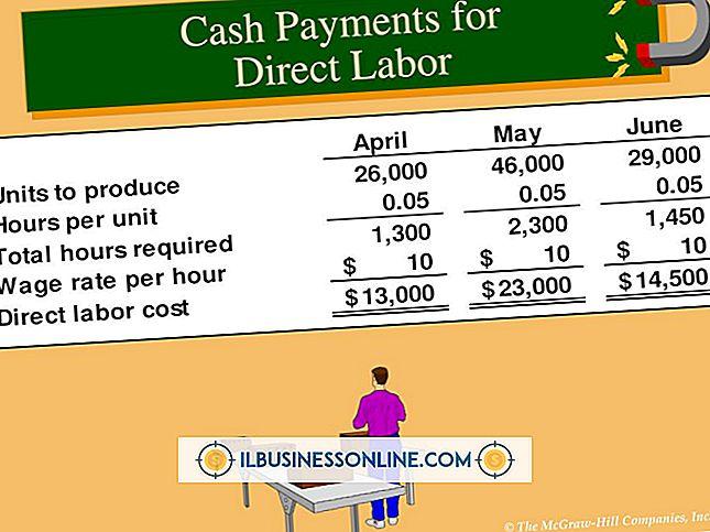 Como funciona um orçamento de trabalho direto com um orçamento de produção?