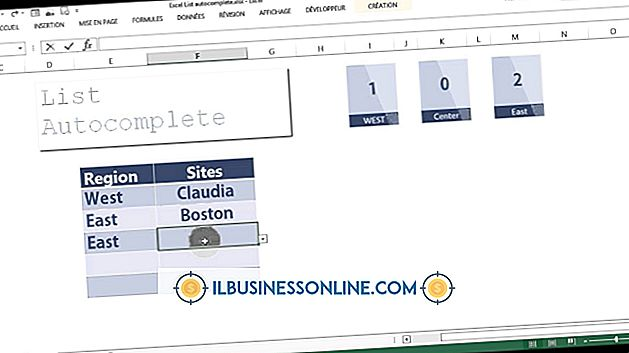 Sådan bruges Auto Complete i en kombinationsboks i Excel 2003