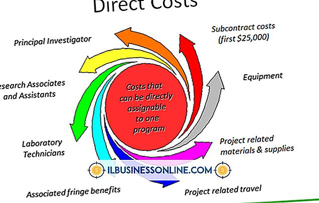 Eksempler på direkte og indirekte kostnader