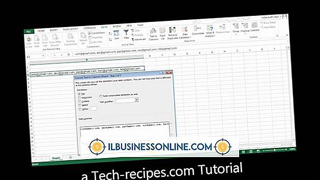 Hur delas två siffror i en cell för Microsoft Excel
