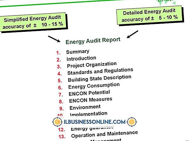 Kategorie Buchhaltung & Buchhaltung: Energieauditverfahren