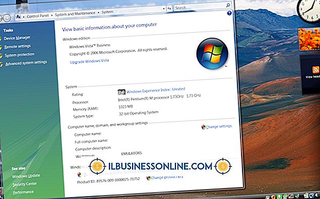 Buchhaltung & Buchhaltung - So führen Sie ein Upgrade von Vista Business durch