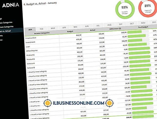 Excel para ingresos vs.  Gastos
