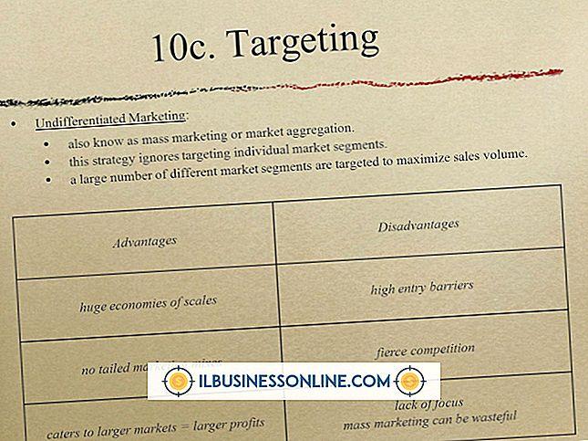 Kategorie Werbung & Marketing: Die Nachteile von Target Marketing