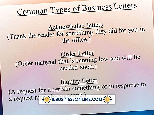 व्यवसाय पत्र के रूप