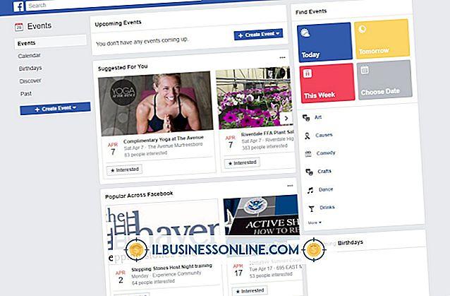 श्रेणी व्यापार मॉडल और संगठनात्मक संरचना: फेसबुक पर ईवेंट कैसे खोजें