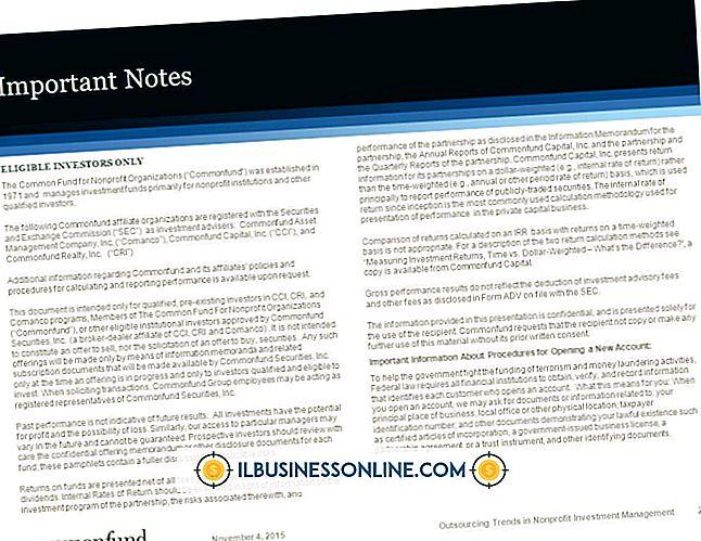 Was sind die Unterschiede in Finanzberichten für eine Non-Profit-Version?  ein gewinnorientiertes Unternehmen?