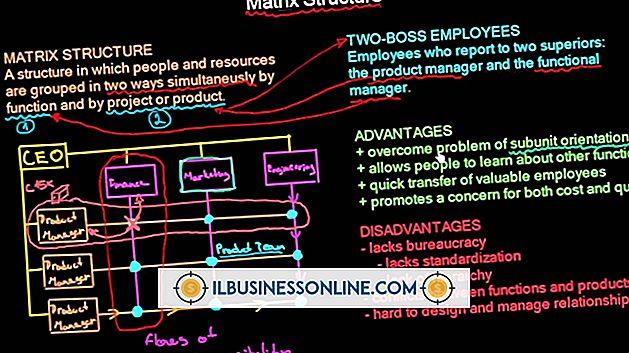 Nachteile von Organisationen mit dem Matrix-Ansatz