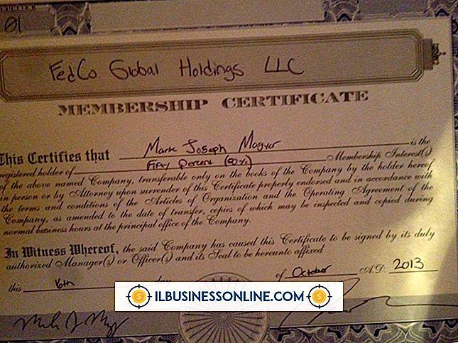 Cómo redactar un certificado de membresía de LLC