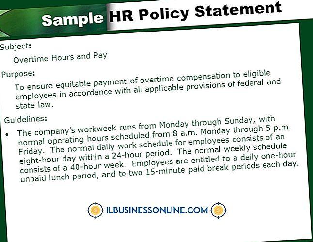 Eksempler på HR-politikområder i en organisation