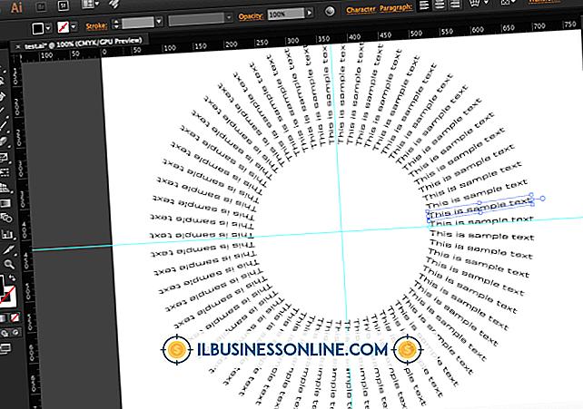 Sådan skrives ord omkring en cirkel i InDesign