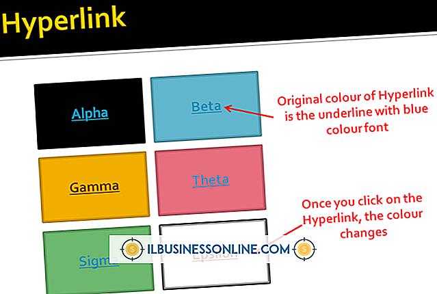 Kategorie Geschäftsplanung & Strategie: So ändern Sie die Farbe eines Hyperlink-Textfelds in PowerPoint