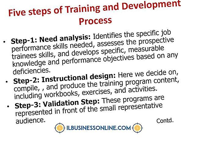 एक प्रशिक्षण कार्यक्रम के आठ चरण