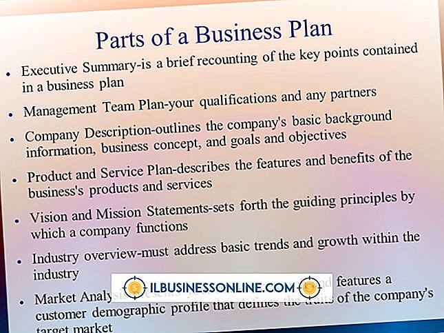 एक बिज़नेस प्लान के विभिन्न भाग