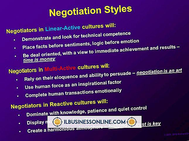 Forskellige stilarter, der anvendes af forhandlere