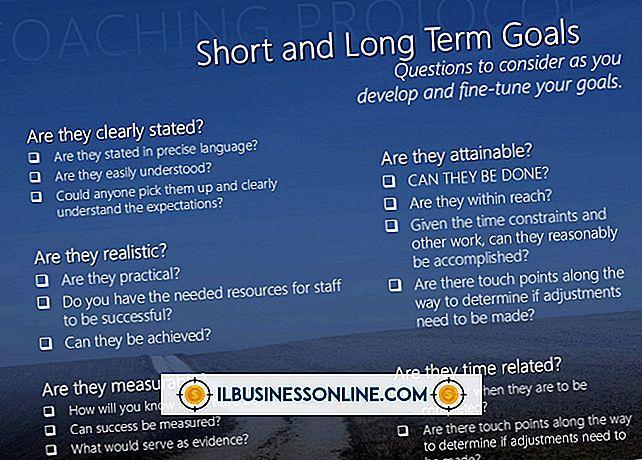 Eksempler på langsigtede og kortsigtede mål for en virksomhed