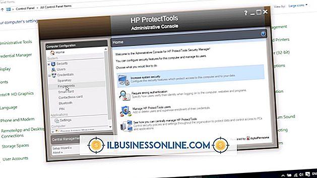 Kategorie Geschäftstechnologie & Kundenbetreuung: So deaktivieren Sie HP ProtectTools