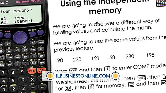 Sådan bruges hukommelsesfunktionen på en computers regnemaskine