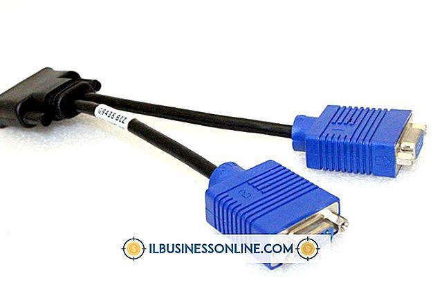 So verwenden Sie ein VGA Y-Splitter-Kabel mit zwei Videomonitoren