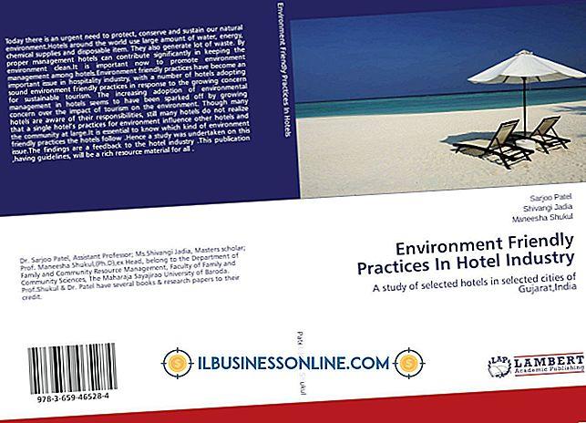 Miljømæssige forhold i gæstfrihedsbranchen