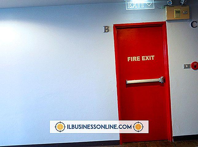 Pautas contra incendios en la puerta de entrada al lugar de trabajo