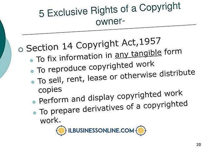 Cinco derechos exclusivos de los propietarios de derechos de autor