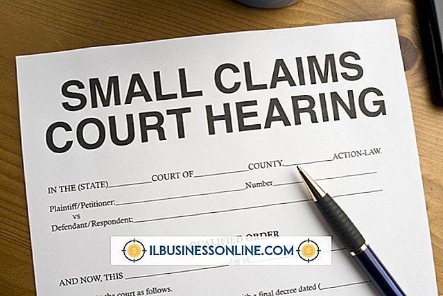 Kategorie Geschäfts- und Arbeitsplatzbestimmungen: Einreichung eines Small Claims-Falls für ein Unternehmen