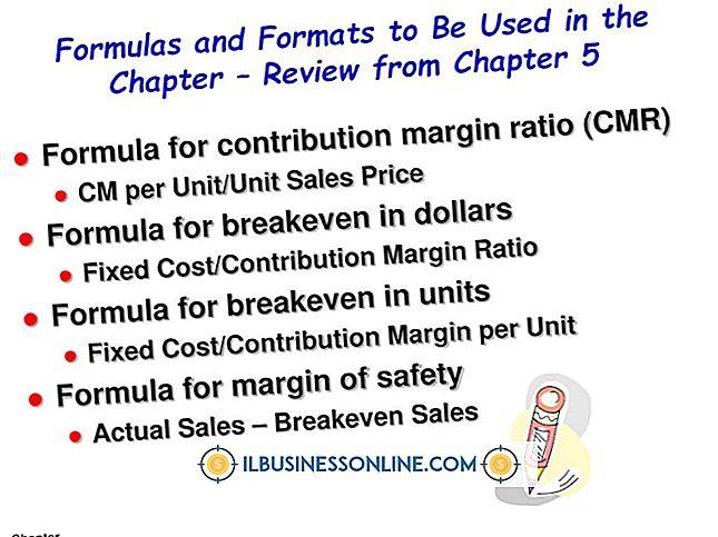 Formel zur Ermittlung der Gewinnspanne