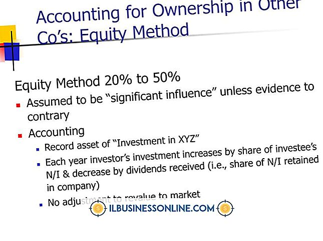 El método de la equidad para dividendos en efectivo