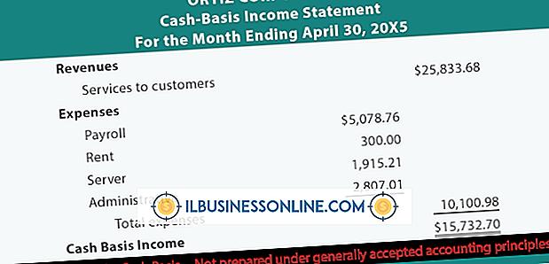 Kategorie Finanzen & Steuern: Was ist Cash Basis Profit & Loss?