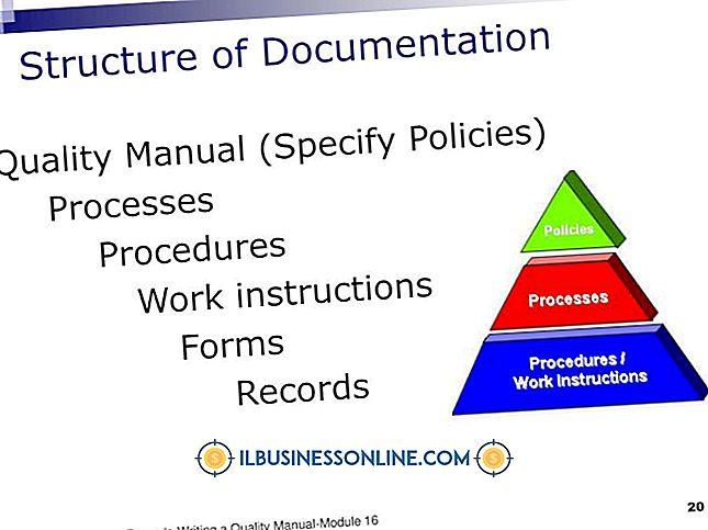 आईएसओ नीति प्रक्रियाओं के लिए प्रलेखन प्रारूप