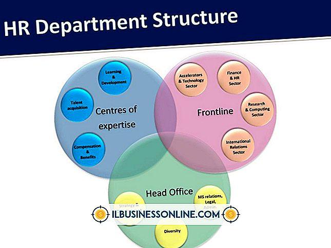 menneskelige ressourcer - Typisk HR-afdelingshierarki
