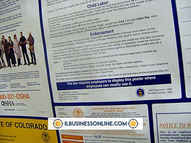 श्रेणी मानव संसाधन: कर्मचारियों की संख्या द्वारा संघीय श्रम कानून