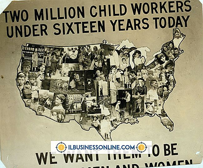 인적 자원 - 아동 노동법의 유형