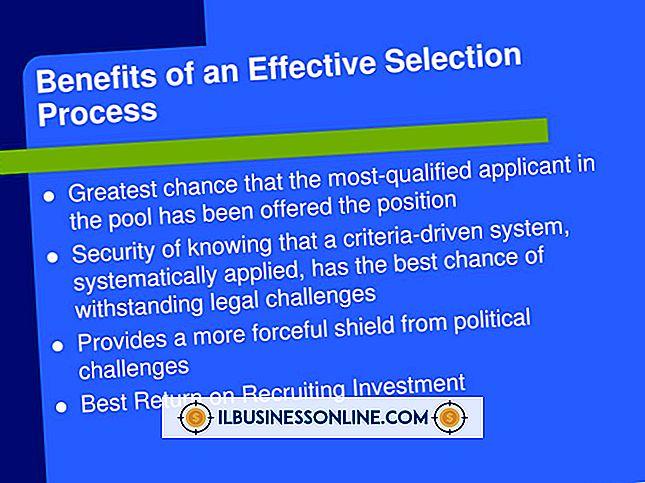 Wirksamkeit des Rekrutierungs- und Auswahlprozesses