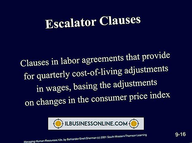 Eskalatoravtale i en arbeidsavtale