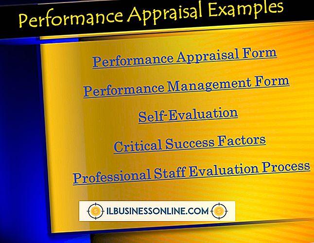 完成した従業員評価の例