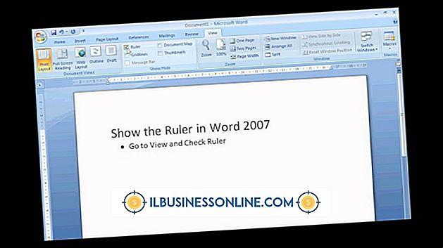 Wie Verwenden des Lineals in Word 2007
