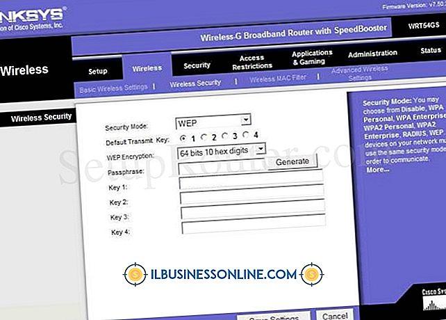 Kategori başlamak üzere işletme türleri: Linksys'de WPA Güvenliği Nasıl Devre Dışı Bırakılır